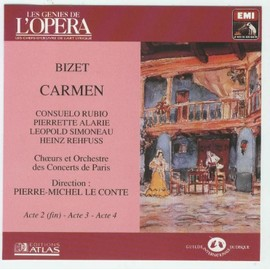 Carmen - Bizet - Edition Atlas - Collection Les Genies De L'opera - Ope-Cd-1077