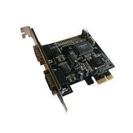 Carte Contr�leur PCIE SERIE / RS232 sur port PCI EXPRESS (PCI-E) - 2 Sorties
