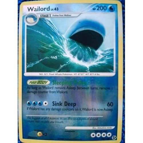 carte pokemon wailord holo 200pv 30 106 neuf et d 39 occasion. Black Bedroom Furniture Sets. Home Design Ideas