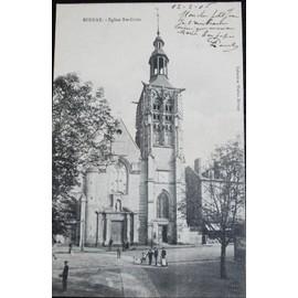 Carte Postale Affranchie : 1905, Bernay, �glise Sainte Croix