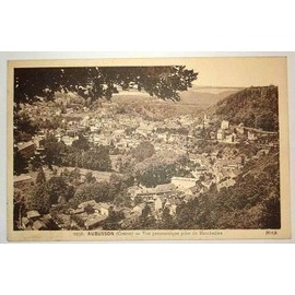 Carte Postale Ancienne Creuse Aubusson Vue Panoramique Prise Du Marchedieu