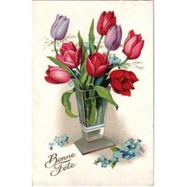 Carte postale ancienne france bonne f te bouquet de for Bouquet de fleurs fetes des meres