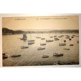 Carte Postale Ancienne La Bretagne Le Conquet Les Bateaux De Peche
