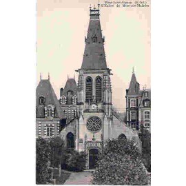 carte postale ancienne mont aignan l 233 glise de mont aux malades