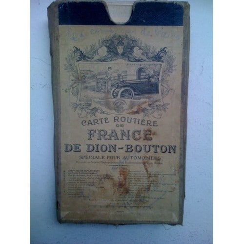 carte routiere de france de dion bouton speciale pour automobile de la france sans le sud. Black Bedroom Furniture Sets. Home Design Ideas