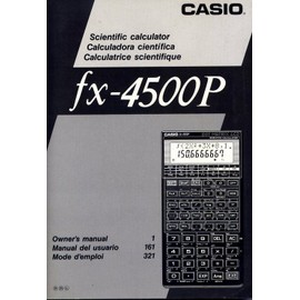 Fx 4500p - Calculatrice Scientifique, Mode D'emploi de Casio