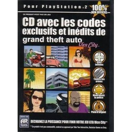 Cd Codes Pour Grand Theft Auto Vice City Sur PS2   PriceMinister