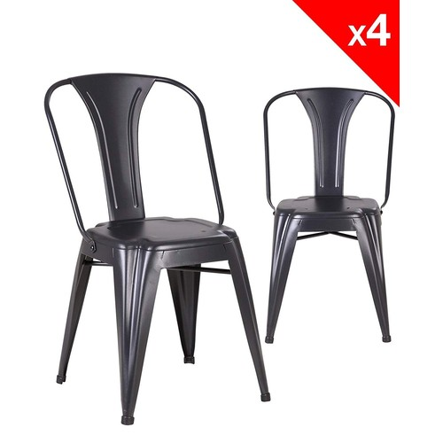 chaise bistrot metal pas cher ou d 39 occasion sur rakuten. Black Bedroom Furniture Sets. Home Design Ideas