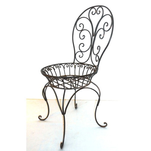 chaise fer forge