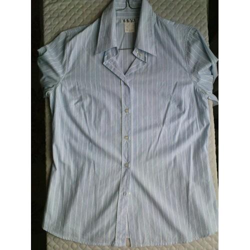 chemise best ray e blanc bleu achat et vente priceminister rakuten. Black Bedroom Furniture Sets. Home Design Ideas
