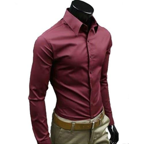 acheter chemise homme bordeaux pas cher ou d 39 occasion sur priceminister. Black Bedroom Furniture Sets. Home Design Ideas