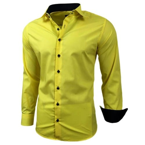 chemise homme jaune achat et vente neuf d 39 occasion sur priceminister rakuten. Black Bedroom Furniture Sets. Home Design Ideas