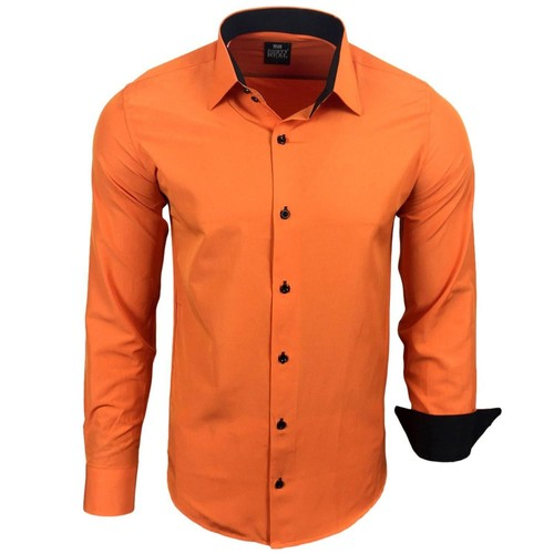 chemise homme orange achat et vente neuf d 39 occasion sur priceminister rakuten. Black Bedroom Furniture Sets. Home Design Ideas