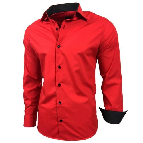 Chemise homme rouge achat et vente neuf d 39 occasion sur priceminister rakuten - Chemise rouge et noir homme ...