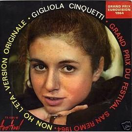 Non Oh L'eta - Eurovision 1964 - 45 Tours Ep (Longue Dur�e) - Cinquetti,Gigliola
