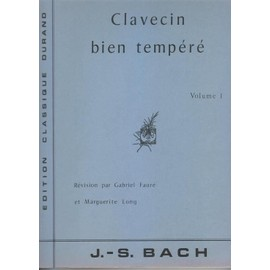 Clavecin Bien Tempere de johann sebastian bach
