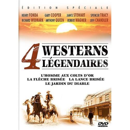 4 westerns l gendaires l 39 homme aux colts d 39 or la fl che bris e la lance bris e le jardin. Black Bedroom Furniture Sets. Home Design Ideas