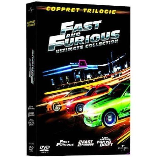 fast and furious coffret trilogie fast and furious 2 fast 2 furious fast furious. Black Bedroom Furniture Sets. Home Design Ideas