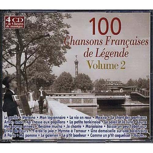 100 chansons fran aises de l gende vol 2 collectif cd album. Black Bedroom Furniture Sets. Home Design Ideas