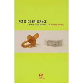 Actes De Naissance - Sur
