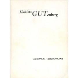 Cahiers Gutenberg N� 25