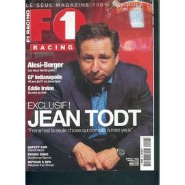 F1-Racing N� 20 : Jean Todt: Ferrari Est La Seule Chose Qui Compte � Mes Yeux