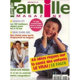 famille magazine n 127 44 id es re ues sur la sant des enfants que choisir pour qu 39 ils. Black Bedroom Furniture Sets. Home Design Ideas
