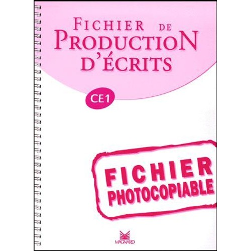 Fichier De Production D'écrits Ce1