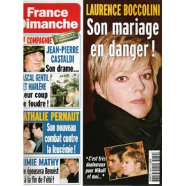 france dimanche n 3050 laurence boccolini son mariage en danger - Laurence Boccolini Mariage Photo