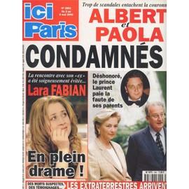 Ici Paris / 02-05-2000 N� 2861 : Lara Fabian (2p) - Etienne Daho (1p) - Virginie Ledoyen (2p) - Luke Perry (1p) - Renaud (1p) - Mariah Carey (1,5p) - Joe Dassin (2p)