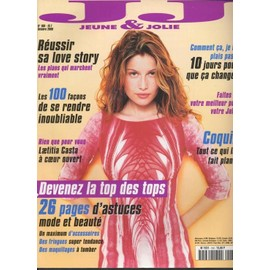 jeune et jolie 10 2000 n 160 laetitia casta 2p ronan keating 1 5p laure sainclair 2p. Black Bedroom Furniture Sets. Home Design Ideas
