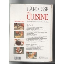 larousse de la cuisine 1500 recettes de collectif format reli. Black Bedroom Furniture Sets. Home Design Ideas