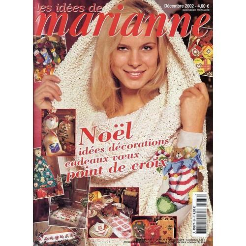 Collectif Les Idees De Marianne N 84 Noel Decorations Cadeaux Voeux Point Croix Revue 716949920 L