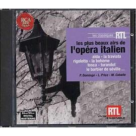 Les Plus Beaux Airs De L'op�ra Italien De Verdi, Donizetti, Giordano, Puccini, Rossini, Leoncavallo - Collectif