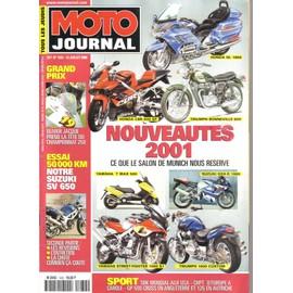 Moto Journal N� 1432 : Nouveait�s 2001