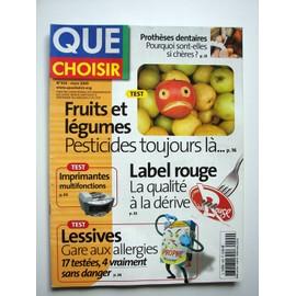 que choisir n 424 fruits et l gumes pesticides tests imprimantes lessives. Black Bedroom Furniture Sets. Home Design Ideas