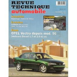 Revue Technique Automobile N� 601 : Opel Vectra Depuis Mod. 96 Diesel 1.7 Et 2.0 83 Ch