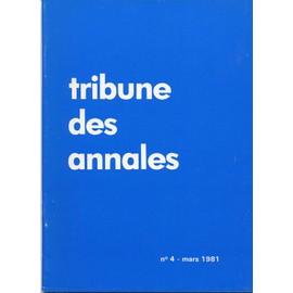 Tribune Des Annales N� 4