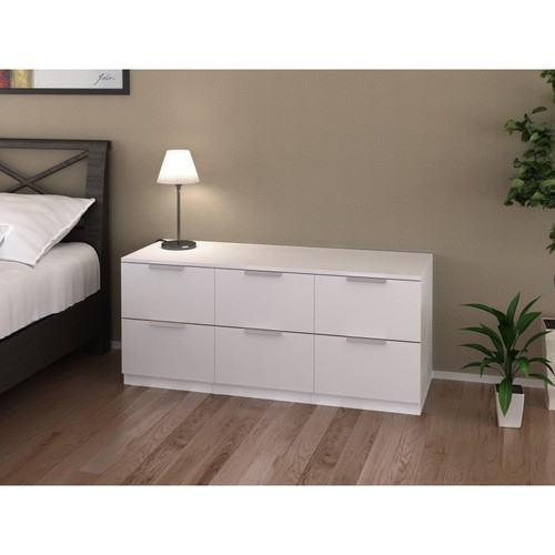 commode blanche 6 tiroirs pas cher ou d 39 occasion sur priceminister rakuten. Black Bedroom Furniture Sets. Home Design Ideas