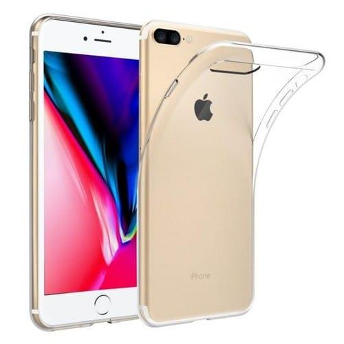 coque iphone 8 plus silicone transparent rose