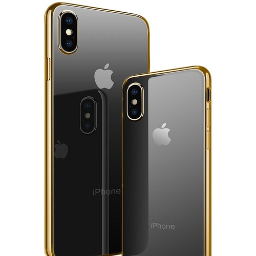coque miroir iphone x / doré