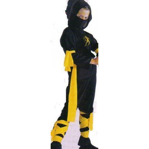 costume de deguisement ninja noir jaune 8 10 ans achat. Black Bedroom Furniture Sets. Home Design Ideas