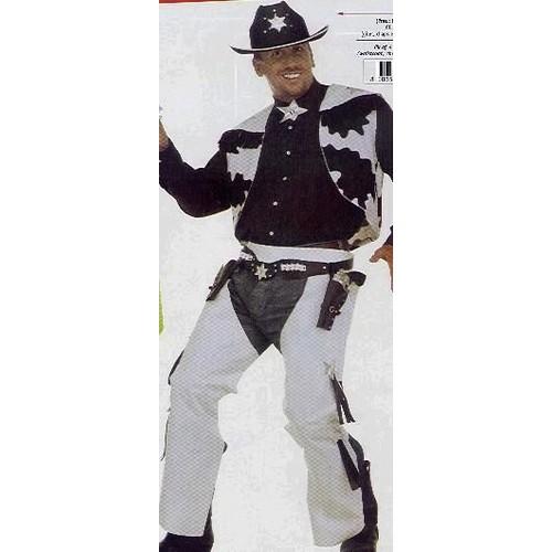 costume deguisement adulte cow boy gilet avec sur pantalon chaps taille 40 42 39 sans chemise et. Black Bedroom Furniture Sets. Home Design Ideas