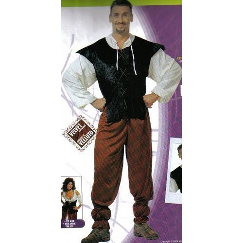 costume deguisement adulte moyen age aubergiste tenancier homme chemise gilet pantalon. Black Bedroom Furniture Sets. Home Design Ideas