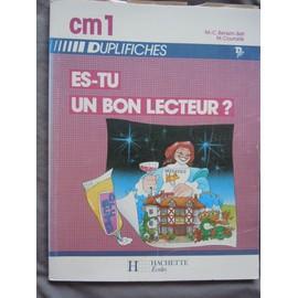 Es Tu Un Bon Lecteur Cm1 Duplifiches de Courcelle