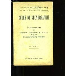 Cours De Stenographie de Collectif.