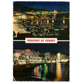 Cpsm - La C�te D'azur - Cannes La Nuit - N�06 156