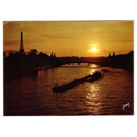 Cpsm - Paris - Coucher De Soleil Sur La Seine - N�10-6301