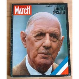 Num�ro Historique : L'adieu � De Gaulle. 21 Novembre 1970. Num�ro 1124 de DE GAULLE...