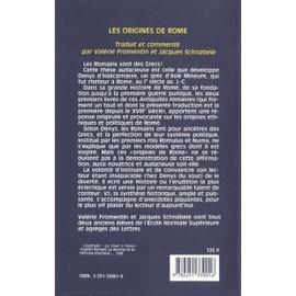 Les Antiquites Romaines Livres I Et Ii Les Origines De Rome De